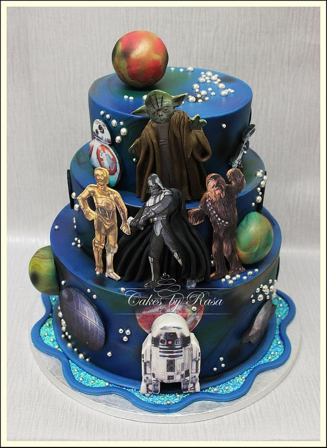 Prime Star Wars Birthday Cake Cake By Cakes By Rasa Cakesdecor Funny Birthday Cards Online Eattedamsfinfo