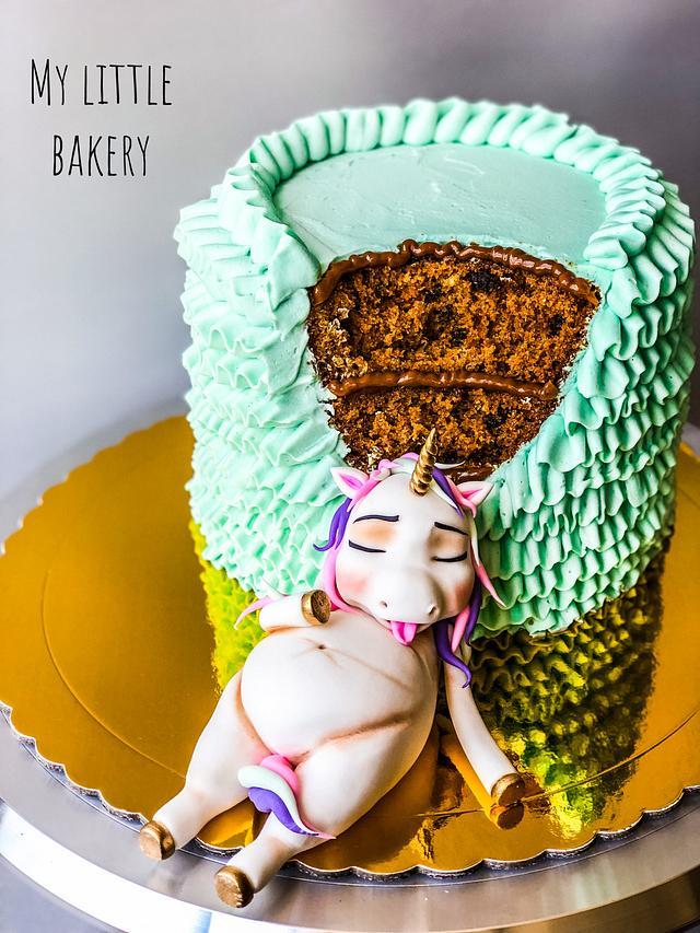 Superb Fat Unicorn Cake Cake By Sandra Draskovic Cakesdecor Funny Birthday Cards Online Necthendildamsfinfo