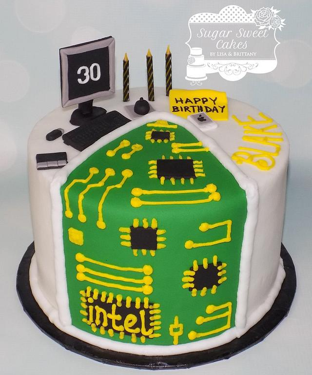 Marvelous Computer Tech Bday Cake By Sugar Sweet Cakes Cakesdecor Funny Birthday Cards Online Barepcheapnameinfo