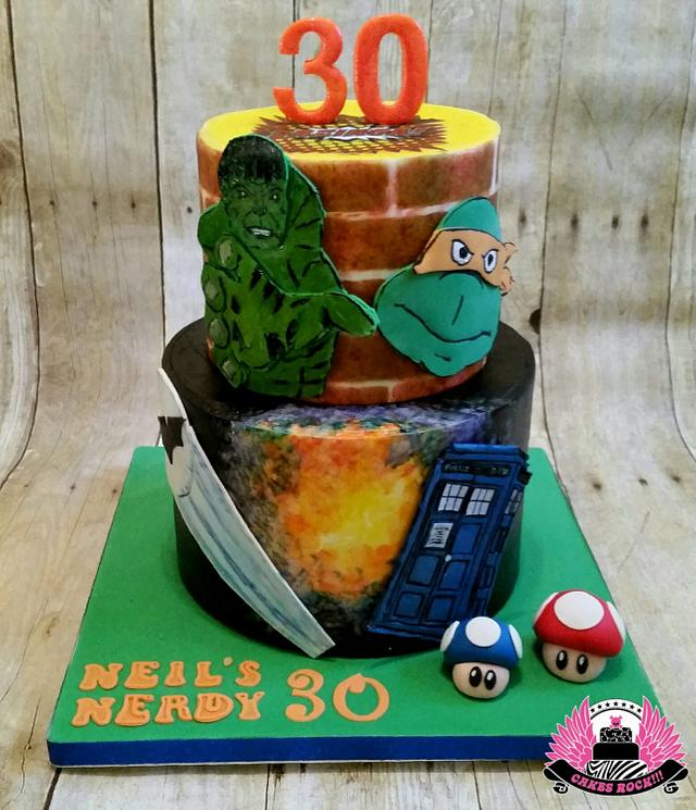 Astonishing Nerdy 30 Birthday Cake Cake By Cakes Rock Cakesdecor Funny Birthday Cards Online Inifofree Goldxyz