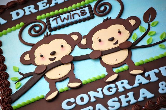 Twin Monkeys Baby Shower