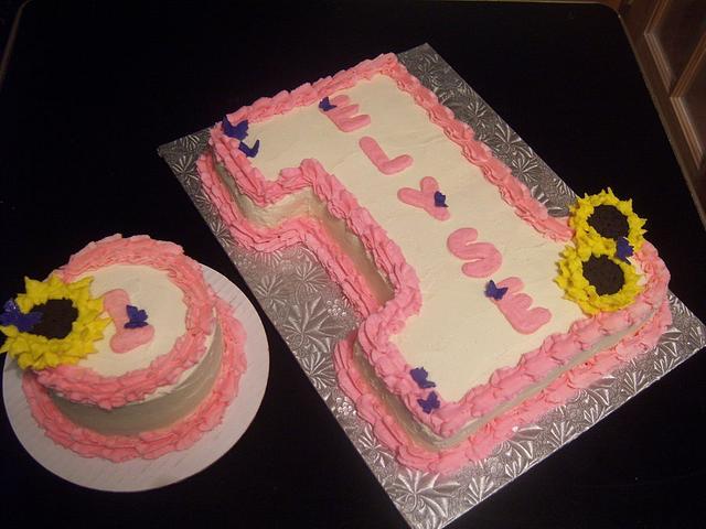 1st bday with smash cake