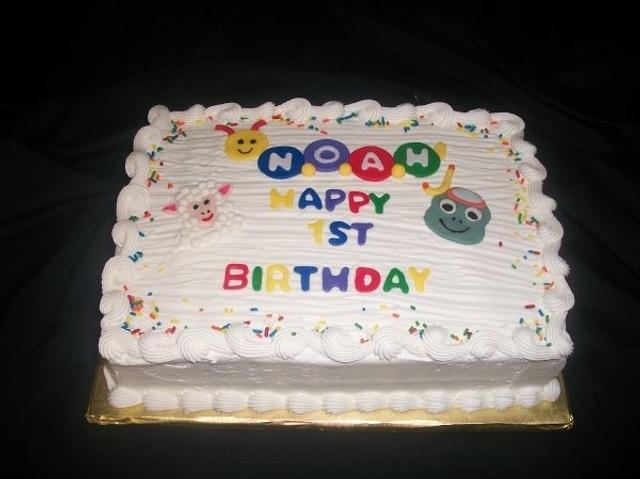 Baby Einstein First Birthday Sheet Cake