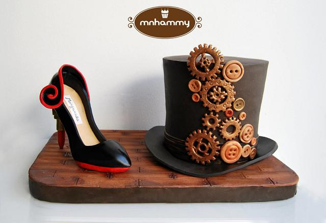 steampunk hat and exuberant shoe