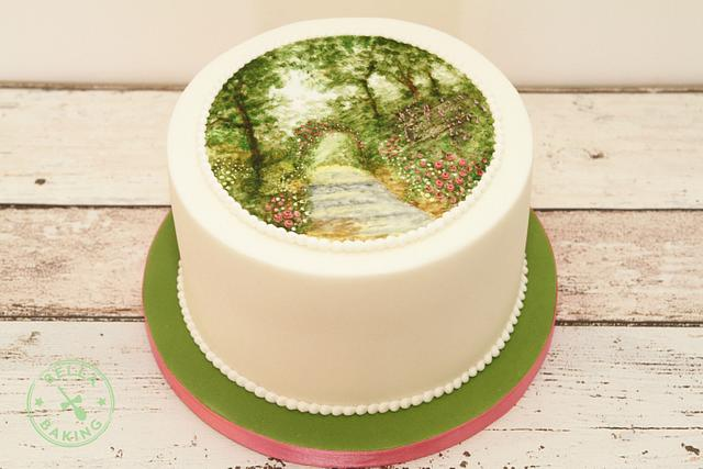 Swoony Summer Path Cake