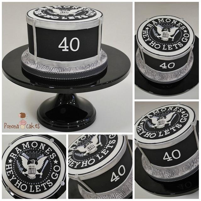 Ramones cake
