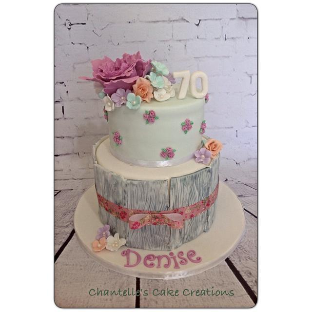 Elegant pastel 70th Birthday