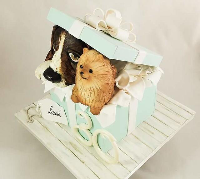 Pups cake surprise