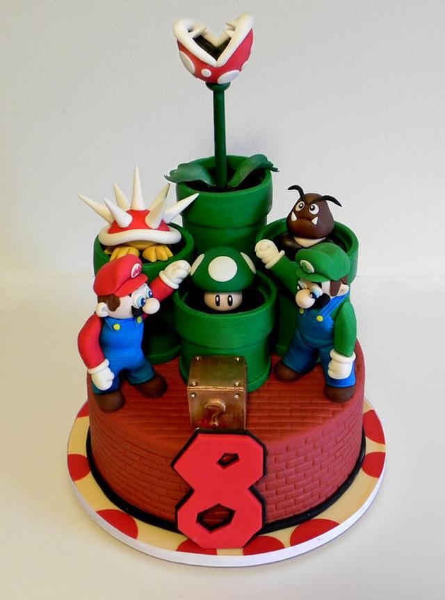 Awe Inspiring Super Mario Birthday Cake Cake By Karas Couture Cakes Cakesdecor Personalised Birthday Cards Veneteletsinfo