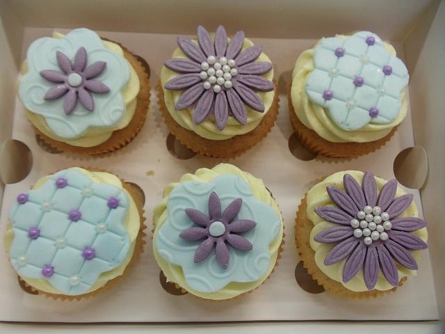 purple and blue elegance