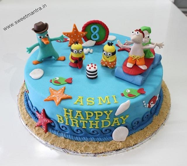 Super Phineas And Ferb Theme Customized Birthday Cake Cake By Cakesdecor Birthday Cards Printable Giouspongecafe Filternl