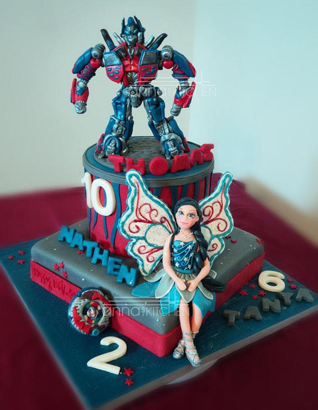 Optimus Prime vs. Barbie Fairy vs. Beyblade