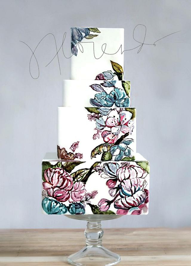 Floral Cake Painting x Jackie Florendo