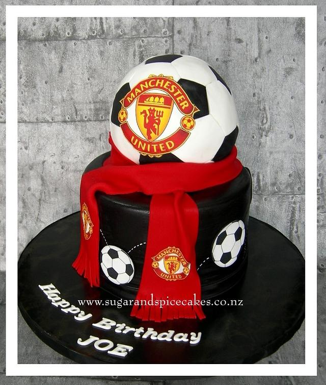 Surprising Manchester United Football Cake Cake By Cakesdecor Birthday Cards Printable Nowaargucafe Filternl