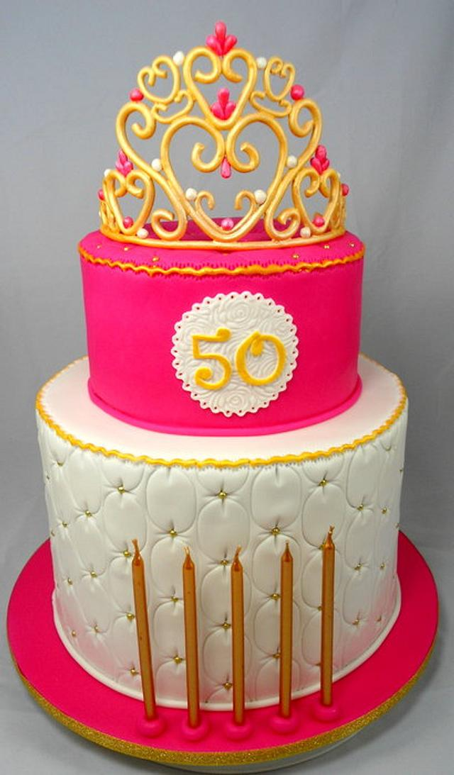 Tiara 50th Birthday Cake