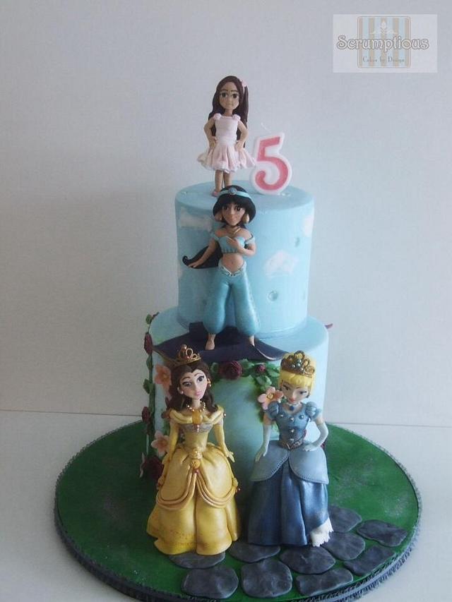 jasi's 5th birthday princess cake