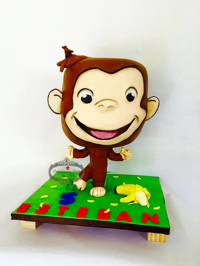 Curious George bobblehead Cake , cake by Delight for your