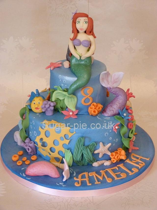 Aerial mermaid cake