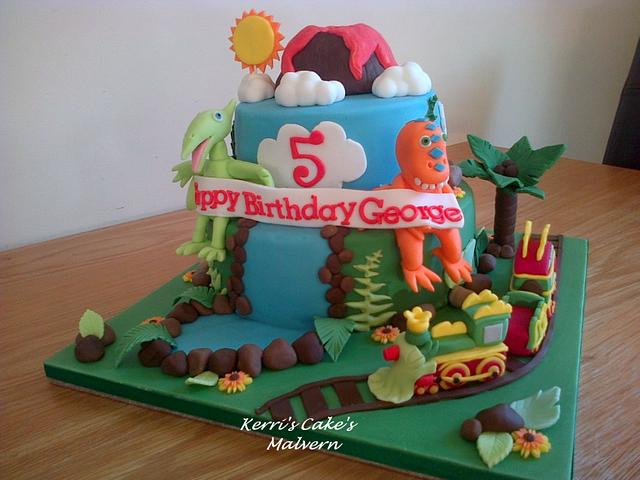 Amazing Dinosaur Train Cake By Kerris Cakes Cakesdecor Funny Birthday Cards Online Alyptdamsfinfo