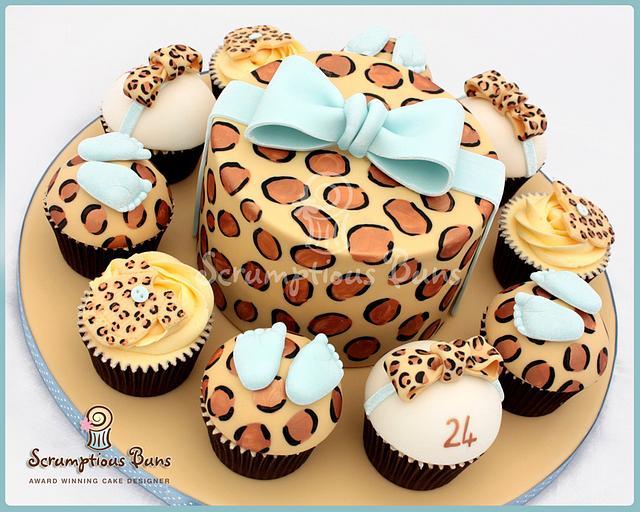Remarkable Big Cake Little Cakes Babyshower Birthday Cake By Cakesdecor Funny Birthday Cards Online Elaedamsfinfo