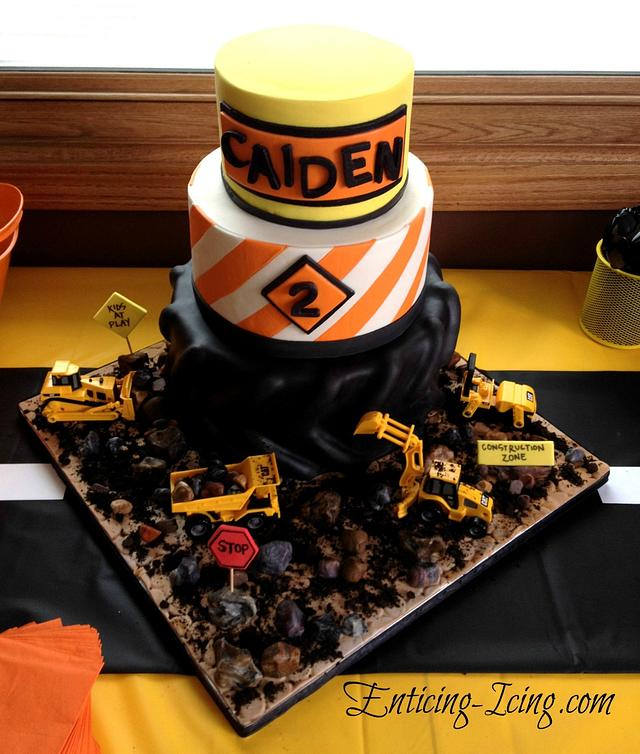 Brilliant Construction Birthday Cake Cake By Enticing Icing Cakesdecor Funny Birthday Cards Online Fluifree Goldxyz