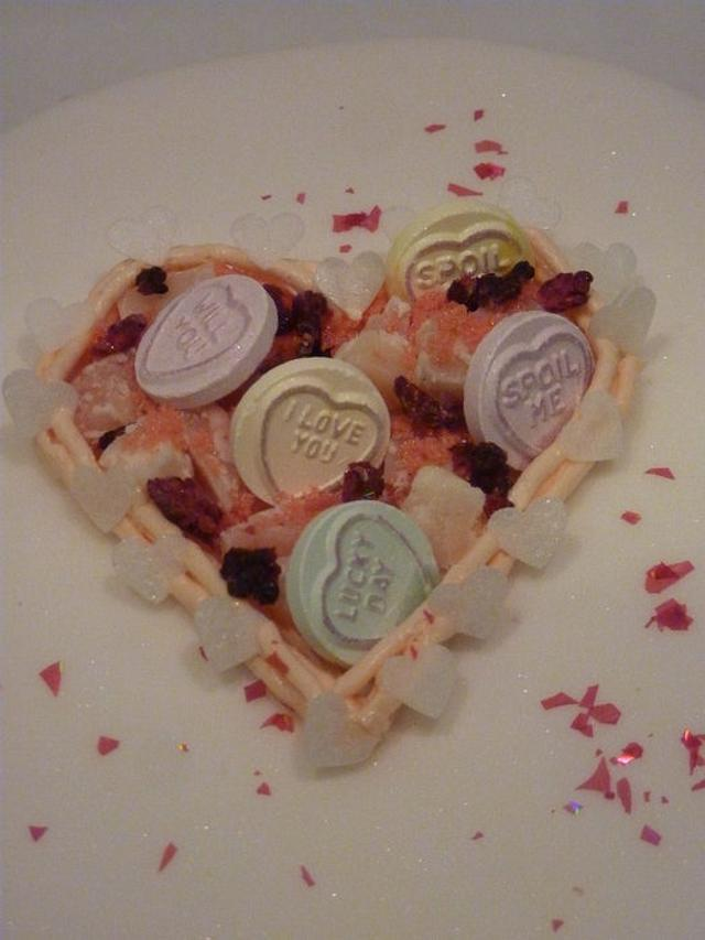"""sweetheart"" cakes <3"