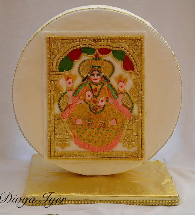 Thanjavur Painting on cake