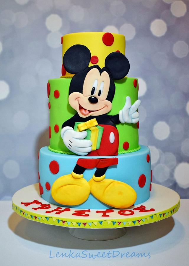 Superb Mickey Mouse Birthday Cake Cake By Lenkasweetdreams Cakesdecor Funny Birthday Cards Online Hendilapandamsfinfo