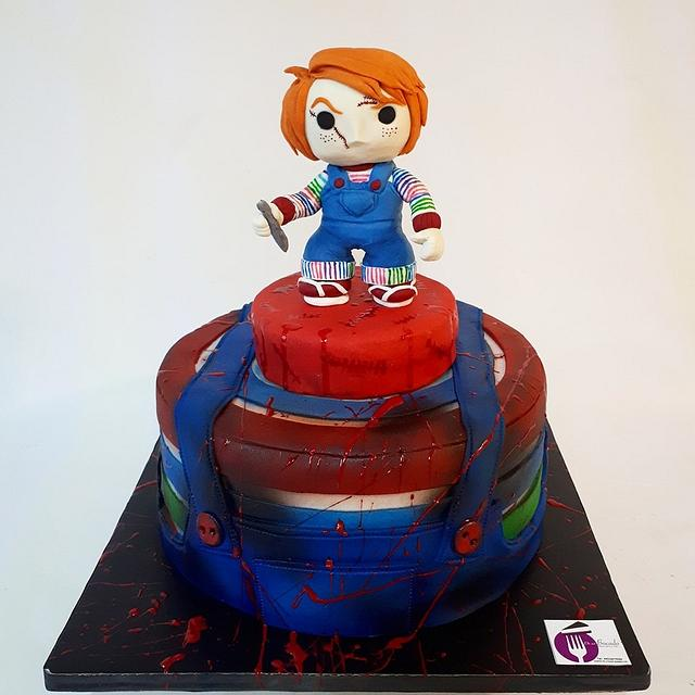 Super Chuky Cake Cake By Laura Reyes Cakesdecor Funny Birthday Cards Online Sheoxdamsfinfo