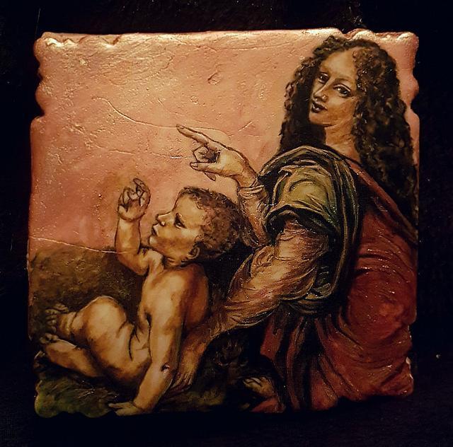 The virgin of the rocks, Leonardo da Vinci challenge