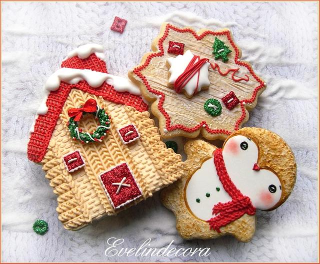 Knit Cristmas cookies