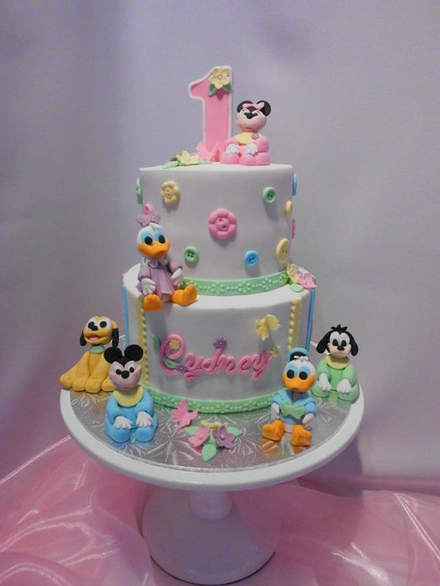 Peachy Disney Babies First Birthday Cake Cake By Michelle Cakesdecor Personalised Birthday Cards Paralily Jamesorg