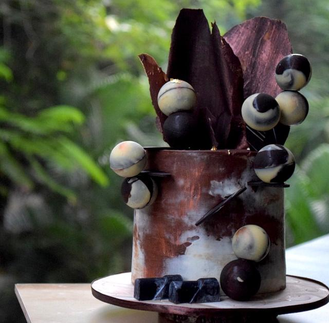 Rum n Raisin Chocolate cake