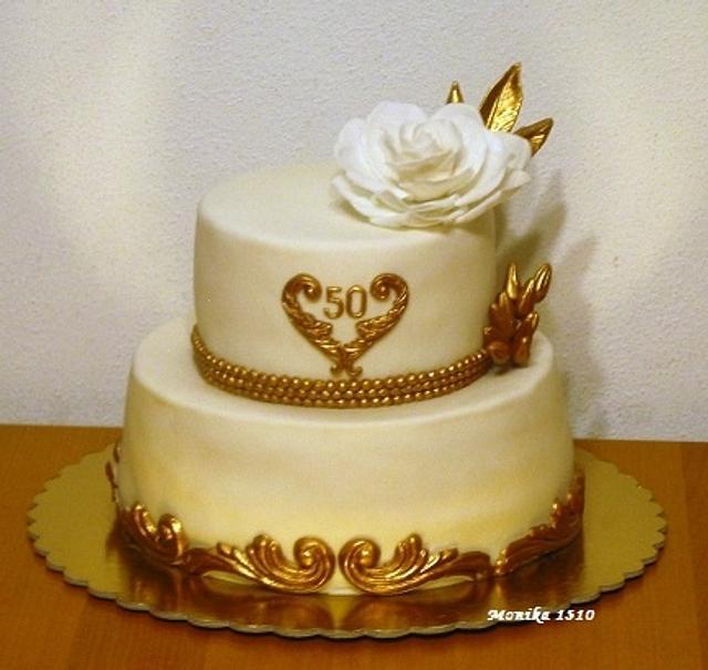Birthday in gold