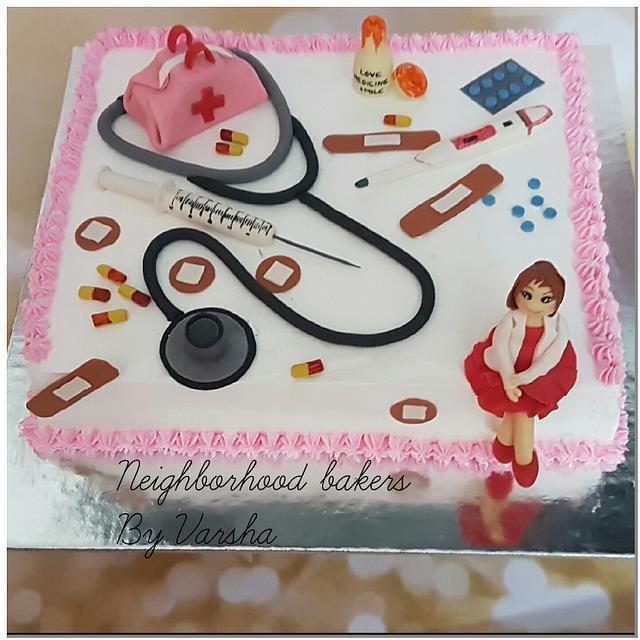 Doctor's theme cake