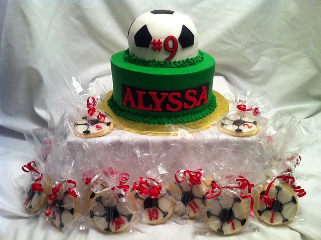 Soccer Cake & Cookies