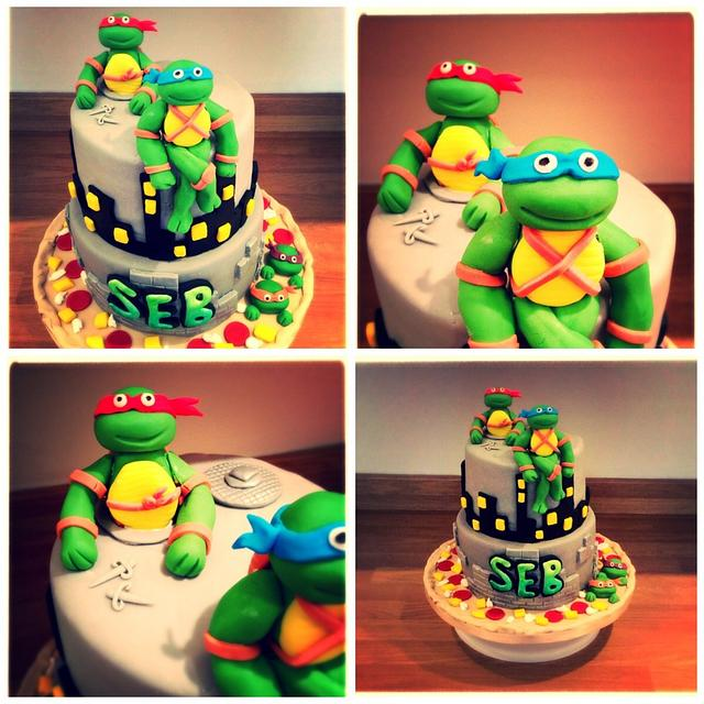 Sensational Teenage Mutant Ninja Turtles Birthday Cake Cake By Cakesdecor Funny Birthday Cards Online Elaedamsfinfo