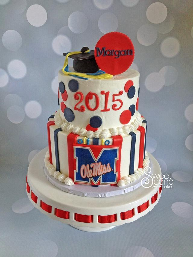 Outstanding Going To Ole Miss Cake By Sweet Scene Cakes Cakesdecor Funny Birthday Cards Online Fluifree Goldxyz