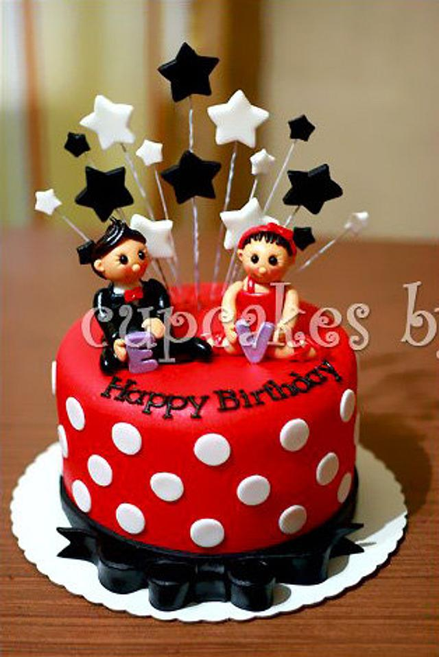 mickey mouse theme inspired cake