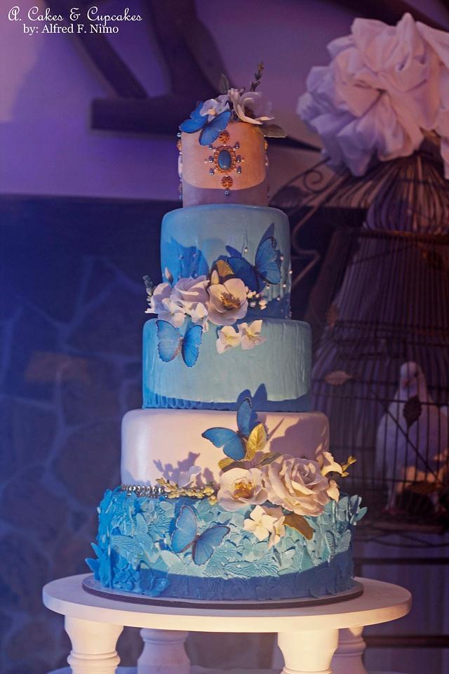 Azure Psyche Wedding Cake