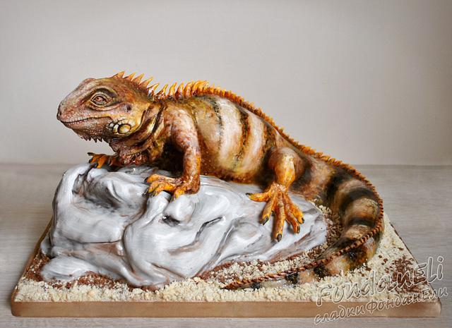 IGUANA - 3D cake