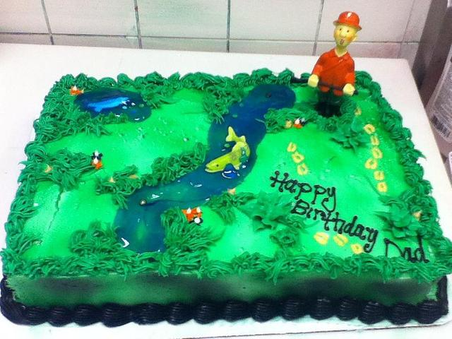 Excellent Fishing Deer Hunting Birthday Cake Cake By Cakes By Cakesdecor Personalised Birthday Cards Veneteletsinfo