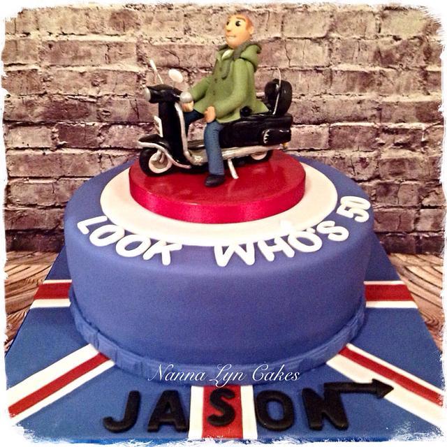 Lambretta scooter cake