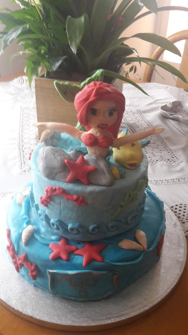 Admirable Little Mermaid Birthday Cake Cake By Manuela Cakesdecor Funny Birthday Cards Online Alyptdamsfinfo