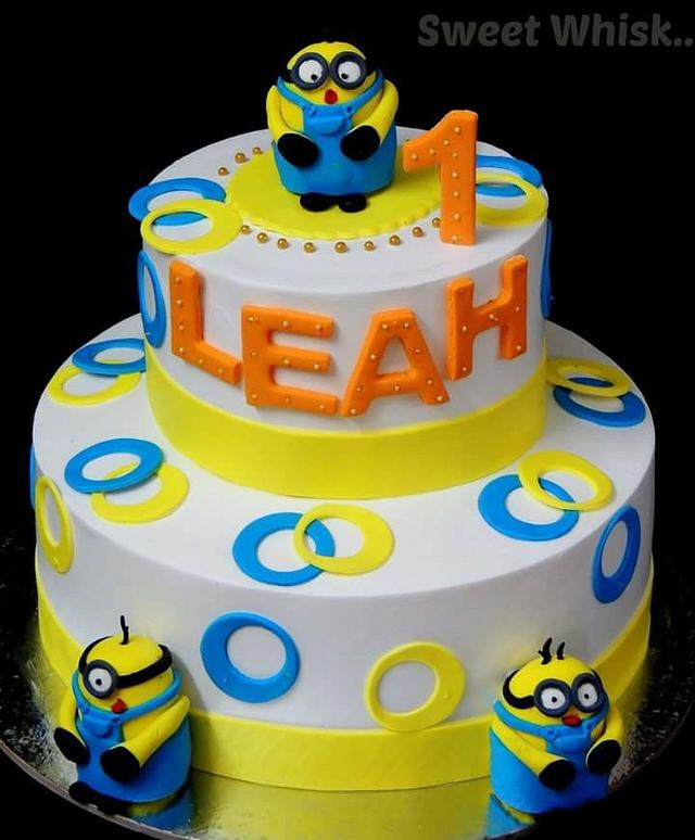 Minions Theme Whipped Cream Cake