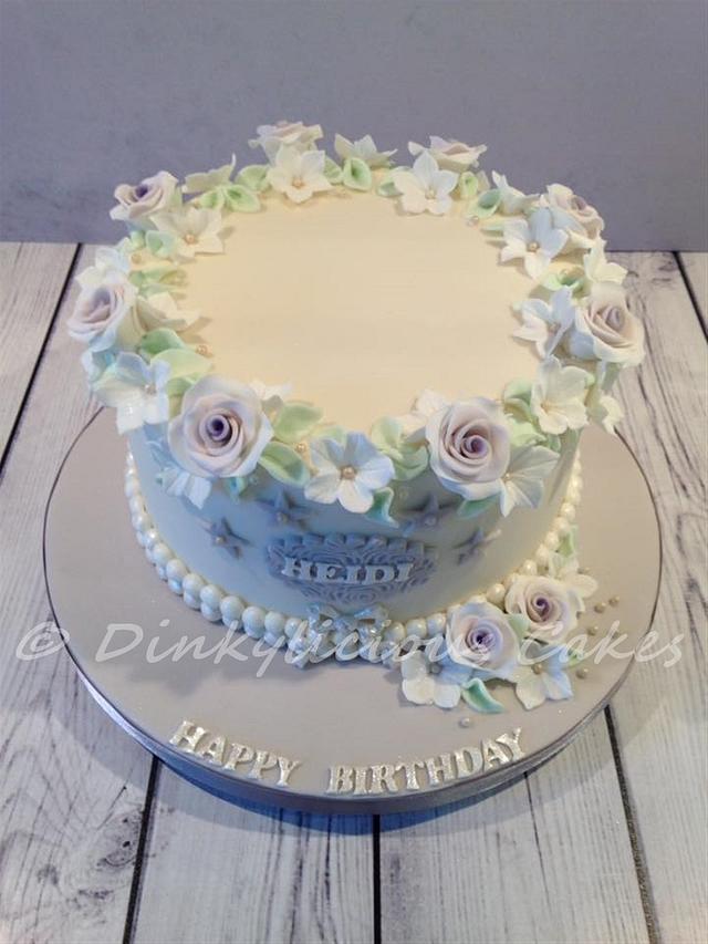 Vintage lavender cake