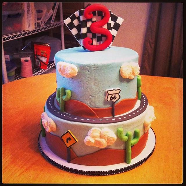 Cars/Travel/Racing Themed Birthday Cake