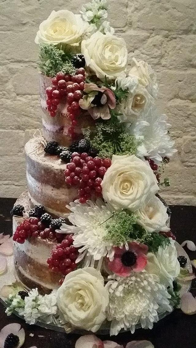 Katrina Naked  Wedding Cake