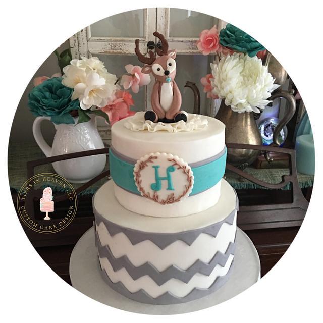 Woodland buck cake topper