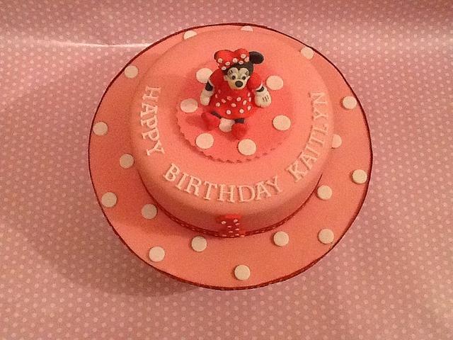 Awe Inspiring Minnie Mouse First Birthday Cake Cake By K Cakes Cakesdecor Personalised Birthday Cards Vishlily Jamesorg